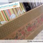Caixa de madeira estilo vintage