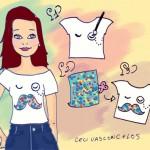As customizações ilustradas de Cecília