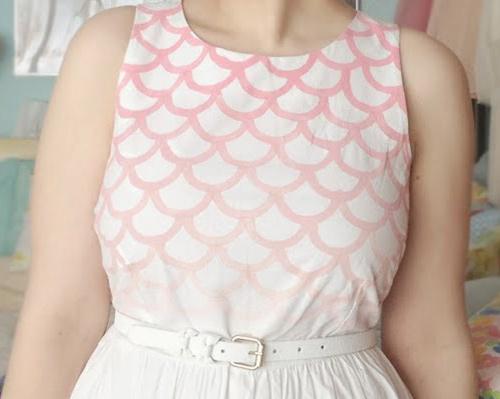 customização de vestido branco