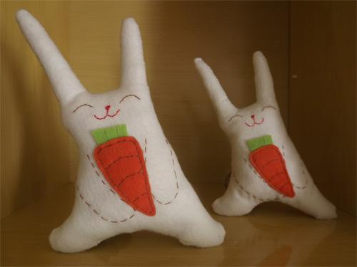 DIY - coelho de feltro para páscoa