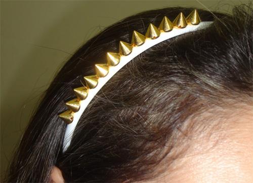 diy tiara com spikes