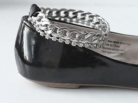 como fazer sapatilha com corrente