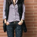 Calça jeans com coraçõezinhos