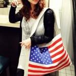 Ecobag com bandeira dos Estados Unidos