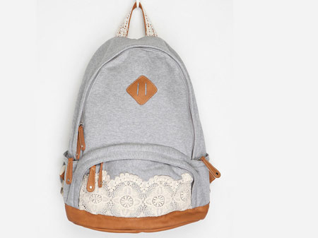 mochila com renda