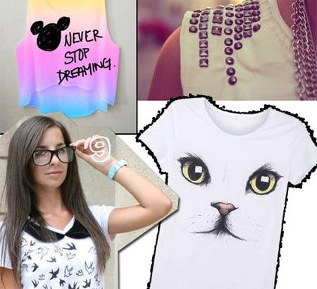 ideias para customizar camiseta branca