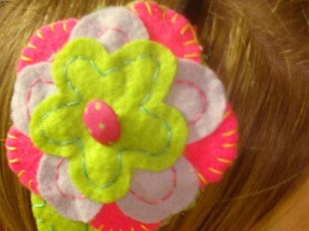 tiara flor de feltro