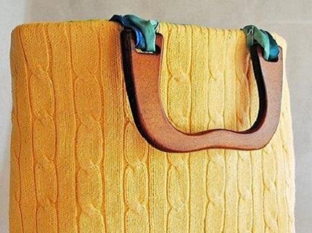bolsa customizada com sueter