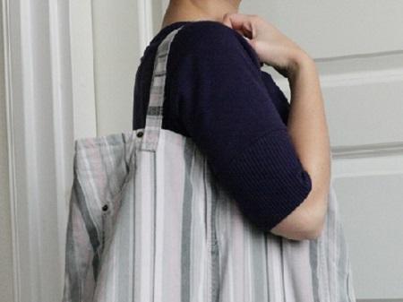 bolsa feita com saia