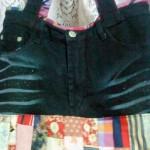 Bolsa de calça jeans e retalhos