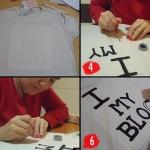 Customização de camiseta – I Love My Blog