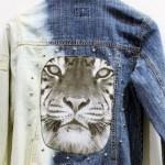 Jaqueta jeans customizada