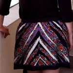 Mini saia feita com lenço