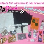 Sorteio de 2 kits de customização – Blog Lila Pink e Customizando
