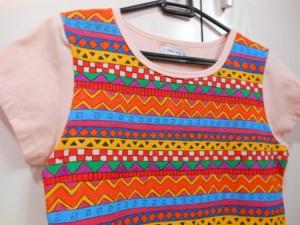 customização de camiseta com estampa étnica