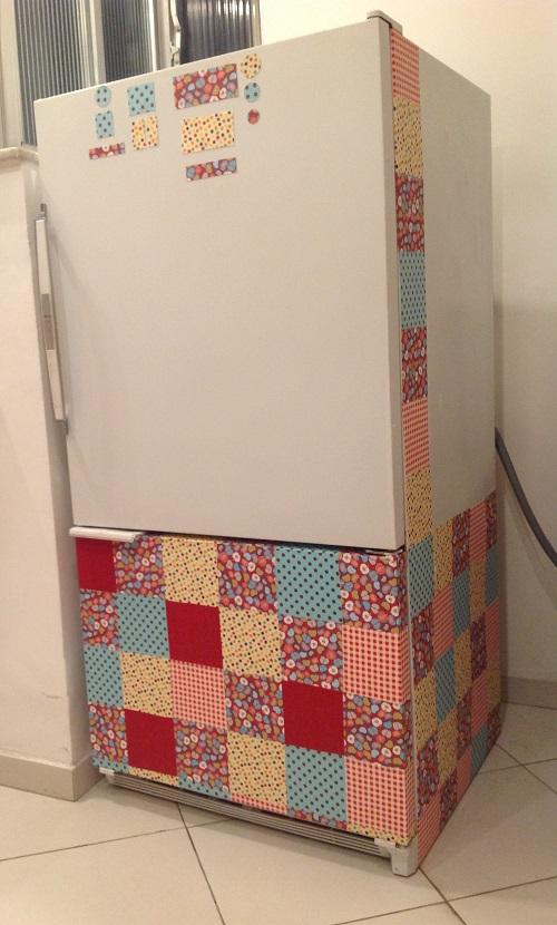 customização de geladeira com tedico autocolante