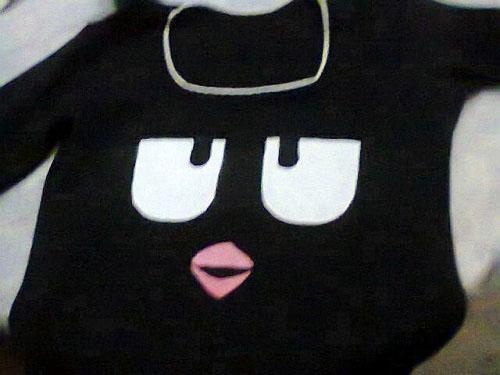 customização de blusinha Angry Birds