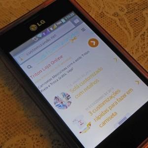 Customizando - versão móbile do blog