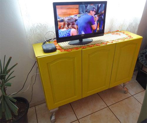 Customizando armário de cozinha
