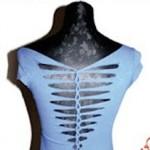 DIY customização de camiseta nas costas