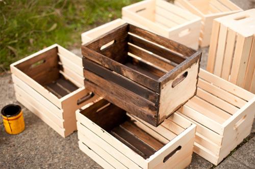 DIY - Nova vida para caixote de madeira - Customizando