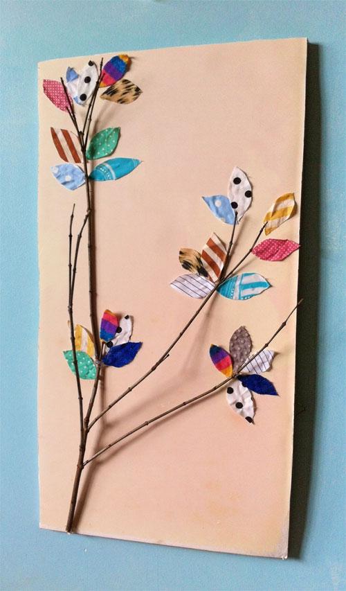 DIY - como fazer quadro decorativo com galhos