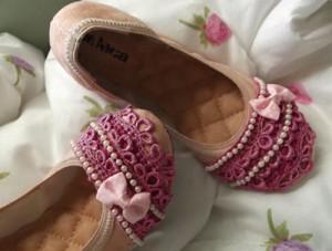 DIY - como customizar sapatilha de uma forma delicada