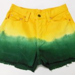 Como customizar short verde e amarelo