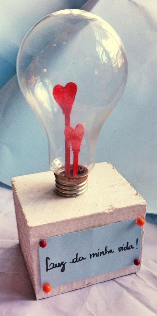 DIY enfeite com lâmpada