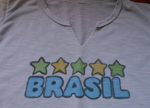 Camiseta customizada Copa do Mundo Brasil
