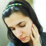 Customizando tiara verde e amarelo