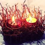 DIY Enfeite em espuma floral