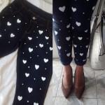 Como customizar calça jeans com coração e poás