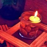 Decoração com velas flutuantes