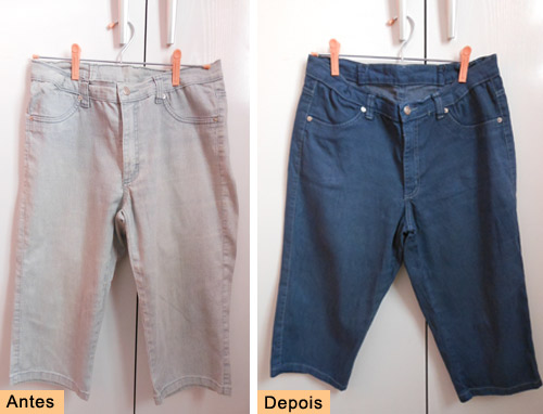 Como tingir jeans