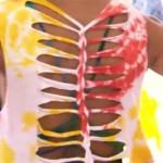 Como customizar camiseta trançada nas costas usando tesoura (Mais Você)