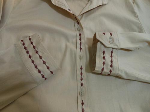 Customizando - camisa bordada