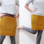 Como transformar blusa de lã em saia