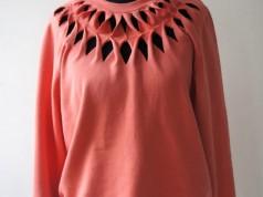 Como customizar blusa de moletom com recortes