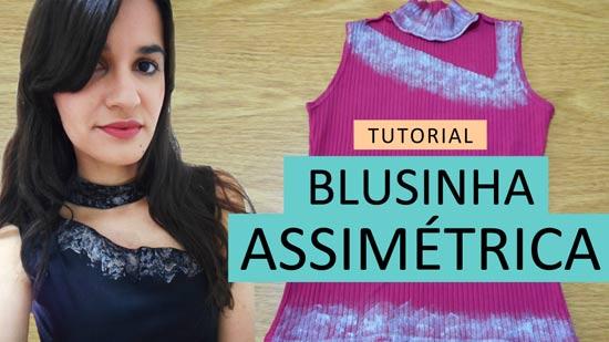 Customizando blusinha assimétrica