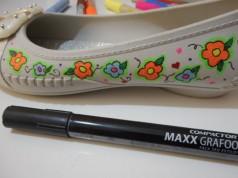 Customizando sapatilha