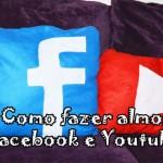 Como fazer almofadas do Facebook e Youtube