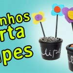 Vídeo DIY Vasinhos porta clipes