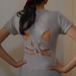 Customizando camiseta com recorte de gatinho