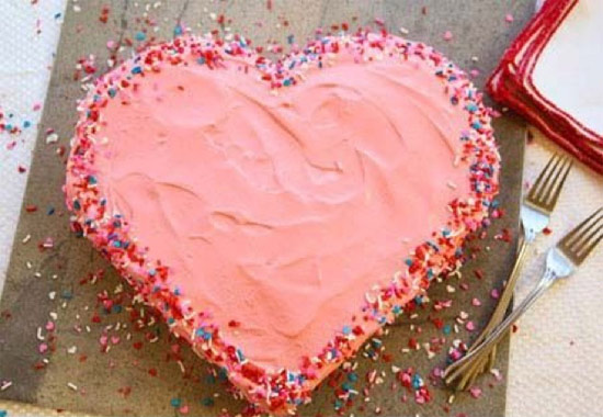 Como fazer bolo em formato de coração