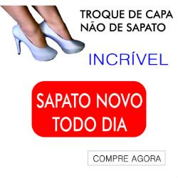 customizar sapato com capa para sapato