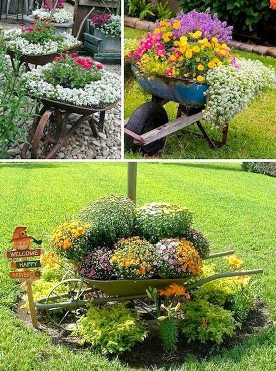 Crie vasos reciclados para o jardim