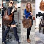 Como customizar bolsa com franjas de couro