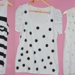 3 ideias para customizar camiseta branco e preto