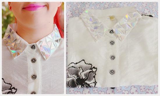 Camisa com gola customizada